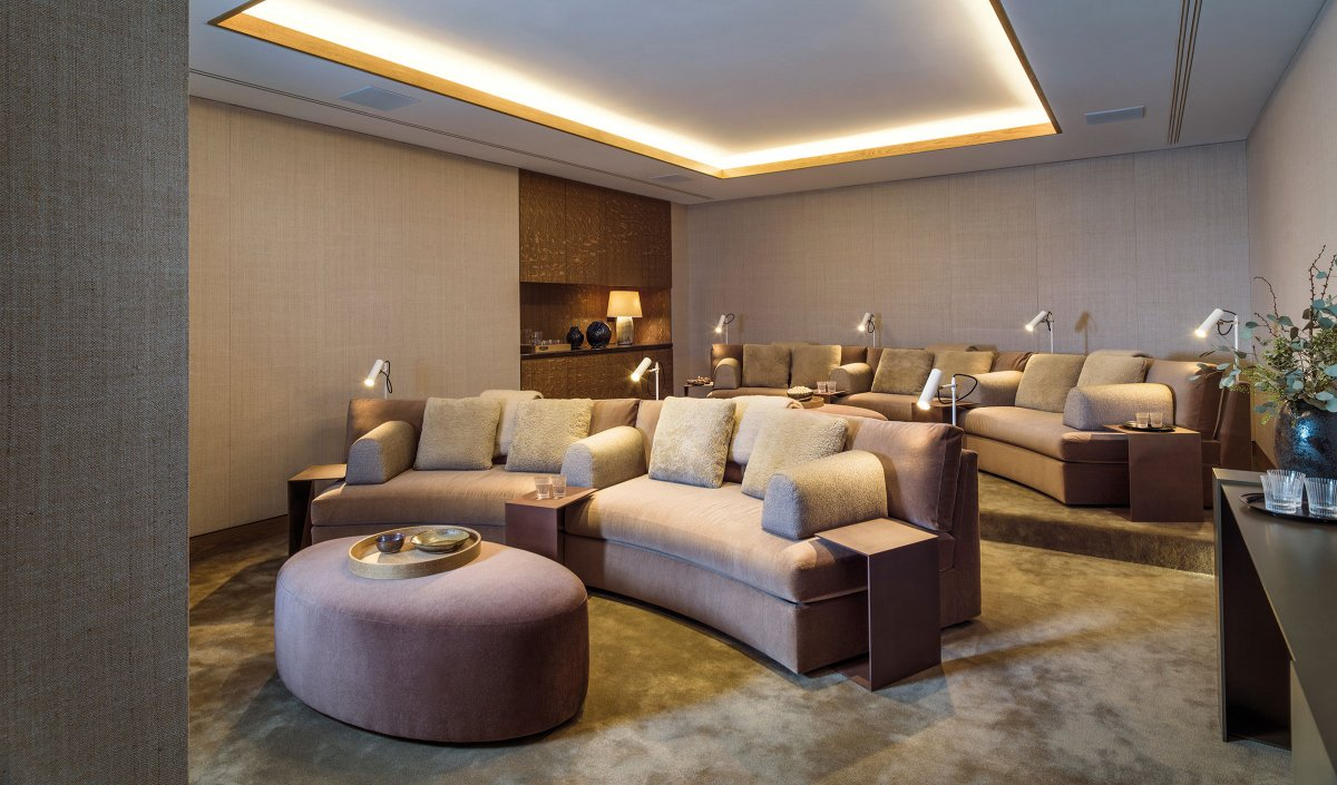 Residents' cinema room in Holland Park Villas