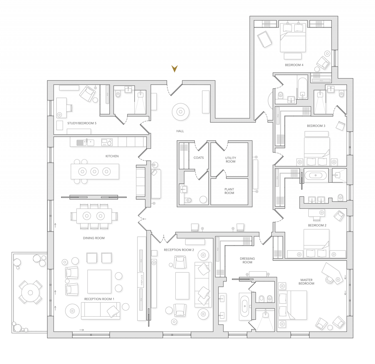Example Floor Plan of Holland Park Villas Apartments